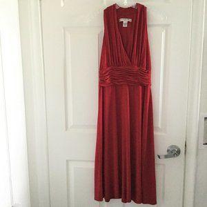 Evan Picone Red Halter Dress